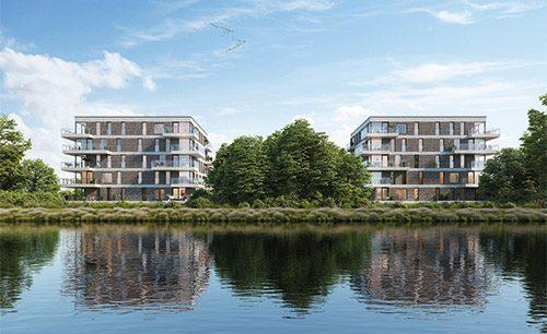 Nieuwbouw appartementen Stasegem Waterleau kopen