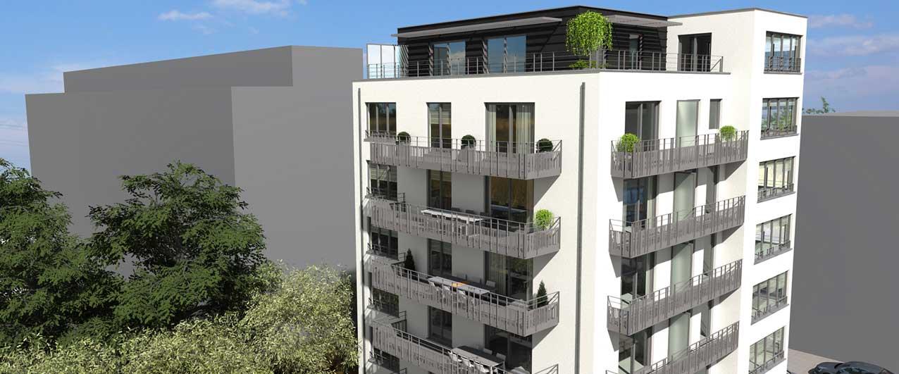 Update van de werken woonproject Riviera te Jette