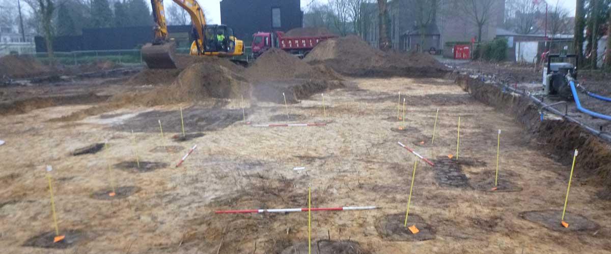Nieuwbouwappartementen Adegem Oaze archeologisch onderzoek