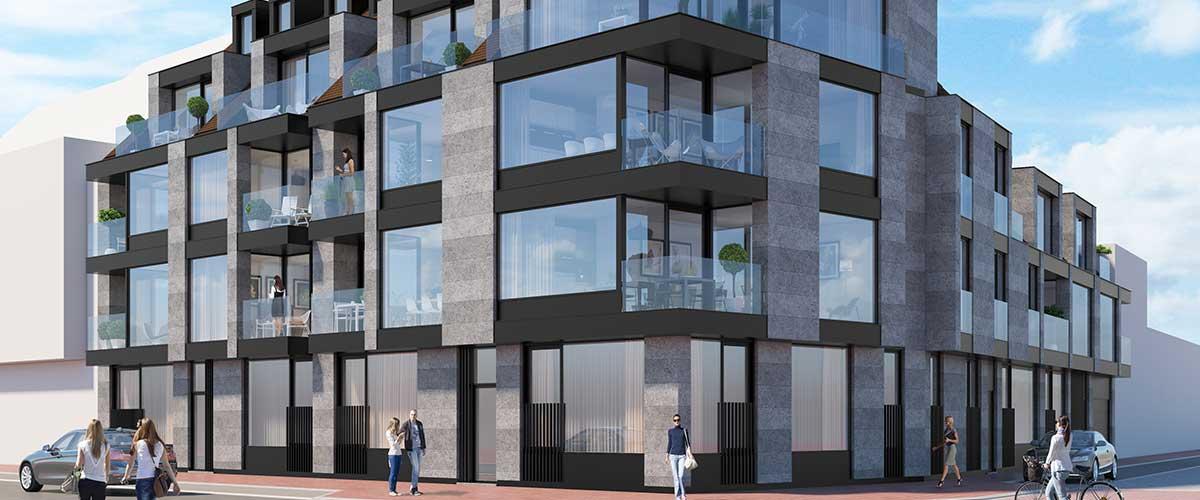 Nieuwbouwappartementen te koop 2 slaapkamers knokke