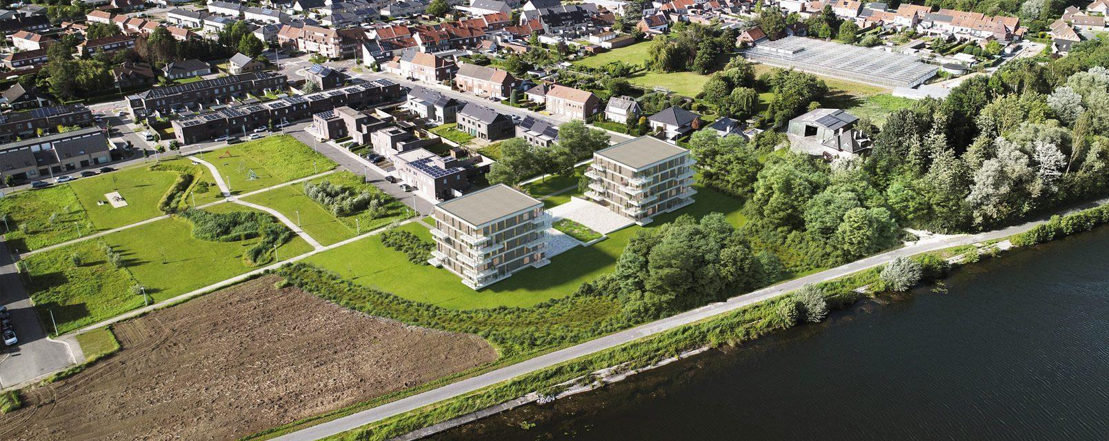 Nieuwbouwappartementen te koop in Stasegem project Waterleau