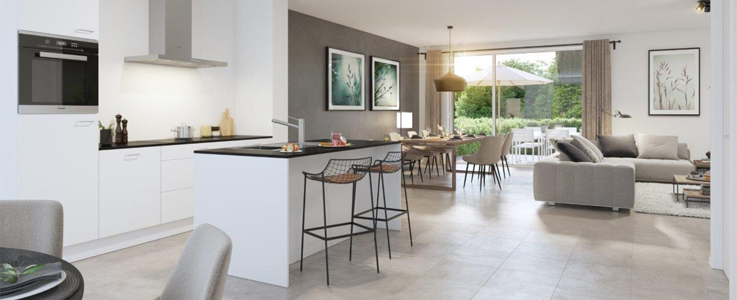 Nieuwbouw huizen Hasselt Herk Milda open keuken