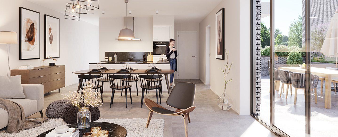 Nieuwbouw appartementen Beveren Oscar open keuken